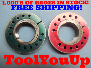 2 1906 16 Ns 3 Thread Ring Gages Go No Go P d s 2 1500 2 1457 Tooling Tools