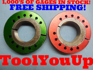 2 1977 16 Ns 3 Thread Ring Gages Go No Go P d s 2 1571 2 1522 Tooling Tools