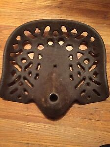 Antique Original Cast Iron Farm Tractor Seat Collectible