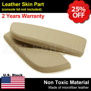 Leather Armrest Center Console Lid Cover Fits For Acura Mdx 2007 2013 Beige