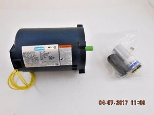 Leeson 1 2 Hp 115 208 230v Electric Motor 1725 Rpm Single Phase