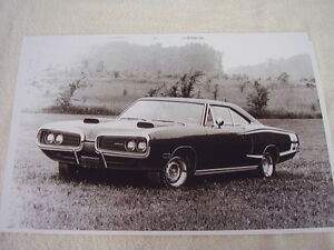 1970 Dodge Coronet Super Bee 11 X 17 Photo Picture