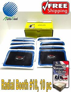 Dual Cure Square Booth Radial Tire Repair Patch 3 1 8 x4 3 4 Box Of 10 European