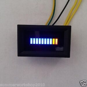 12v Motor Car Auto Digital Blue Led Fuel Oil Gauge Circuit Board Chip Pcb Cover