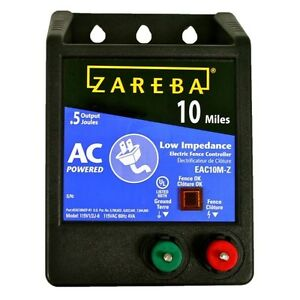 Zareba Eac10m z Fuseless Low Impedance Ac Powered Electric Fence Energizer 0 5