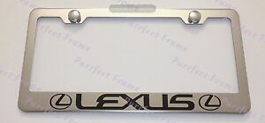 Lexus With Logo Stainless Steel License Plate Frame Rust Free W Bolt Caps