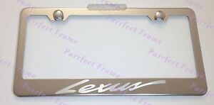 Lexus Laser Style Stainless Steel License Plate Frame Rust Free W Bolt Caps