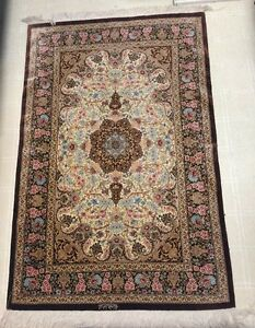 100 Pure Persian Qom Silk Hand Knotted Rug 3x5