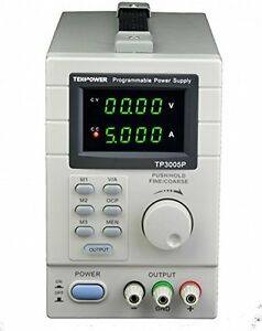 Tekpower Tp3005p Programmable Variable Dc Power Supply 0 30v At 0 5a