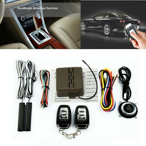 Car Alarm System Pke Keyless Entry Push Button Engine Ignition Start W Remote