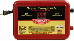 Parmak Super Energizer 5 Low Impedance 110 120 Volt 50 Mile Range Electric Fence