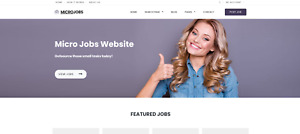 Fully Responsive Micro Jobs Website