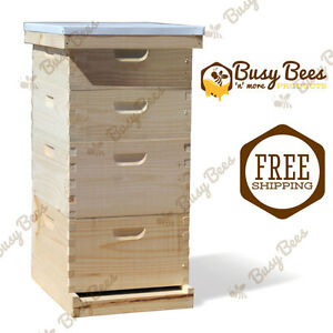 Langstroth Bee Hive 10 Frame 2 Deep 2 Medium includes All Frames