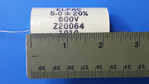 Audio Capacitor Metalized Polyester 5uf 5mf 600v 20 elpac