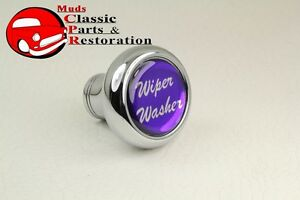 Deluxe Wiper Washer Inside Cab Dash Knob Truck Rat Rod Custom Rig Glossy Purple