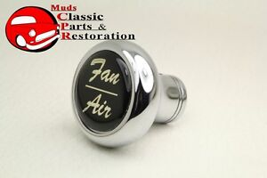 Deluxe Fan Air Cab Dash Knob Truck Hot Rat Street Rod Custom Rig Glossy Black
