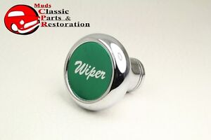 Deluxe Wiper Cab Dash Knob Truck Hot Rat Street Rod Custom Rig Glossy Green