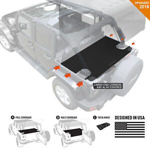 Gpca Jeep Wrangler Jk 4dr Cargo Cover Lite 2007 18 Under Hard Softtop Authentic