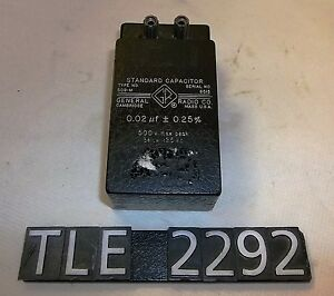 General Radio Model 509 m Standard Capacitor tle2292