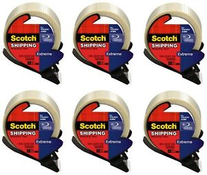 6 3m Scotch 8959 rd 1 88 X 21 8yd Extreme Strapping Shipping Tape W Dispenser
