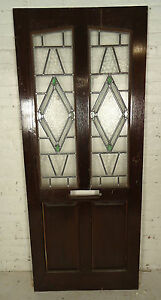 Tall Antique Vintage Stained Glass Art Door 05287 Ns