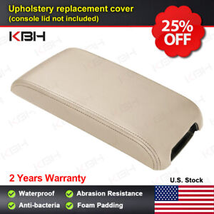 Fits 2012 2017 Toyota Camry Leather Center Console Lid Armrest Cover Ivory Tan