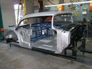1955 Chevy Steel Body 2 Door Hardtop Skeleton With Top Skin And Drip Rails