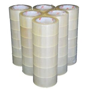 36 Rolls Tape Clear Carton Box Sealing Packing Package 2 Mil 2 x110 Yards 330 Ft