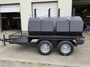 4896 Rotisserie Bbq Grill Smoker Cooker On Trailer By Heartland Cookers