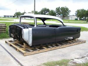 1955 Chevy 2 door Hardtop Body Skeleton With Dash Quarter Panels Doors