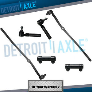 6pc Front Suspension Tie Rod Drag Link Kit For 1998 1999 Dodge Ram 1500 2500 4wd
