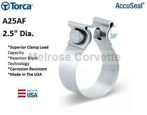 Torca Accuseal 2 5 Dia A25af Exhaust Clamp Usa Made Header Band Strap Fast Ship