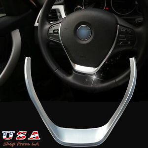 Glossy Chrome Steering Wheel Cover Trim For Bmw F30 F20 1 3 Series 2012 2017