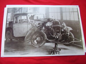1932 Chevrolet Rumble Seat Coupe Wrecked 11 X 17 Photo Picture
