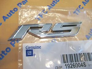 Chevy Cruze Rs Emblem Badge Chrome Edge With Silver Center Oem New 2011 2012
