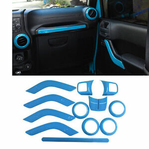 Light Blue Interior Accent Dashboard Moulding Frame Trim For Jeep Wrangler ya