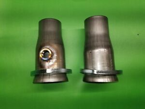 3 00 To 2 50 409 Stainless 3 Bolt Header Socket W 02 Bung Collector Reducer