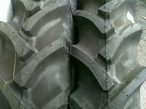Two 8 3x24 8 3 24 Cub Farmall Eight Ply Farm Tractor Tires With Tubes