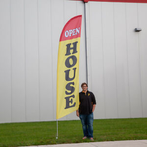 13 Open House Feather Flag Kit Professional Business Advertising Store Fronts