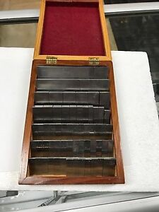 Starrett Webber 71 piece Steel Gauge Gage Block Set Not Complete