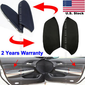 Leather Front Door Panels Armrest Cover For Honda Accord 2008 2012 Sedan Black
