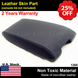 Leather Armrest Center Console Lid Cover Fits For Dodge Charger 2006 2007 Black