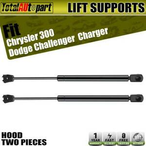 2x Hood Lift Supports Shock Struts Springs For Chrysler 300 Dodge Charger Magnum