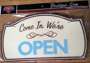 amazing Boutique Sign 2 Sided Come In We re Open Sorry We Are Closed
