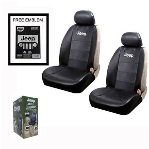 New Jeep Elite Synthetic Leather Car Truck 2 Front Sideless Seat Covers Set