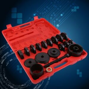 23pc Fwd Front Wheel Drive Bearing Removal Adapter Puller Pulley Tool Kit case F