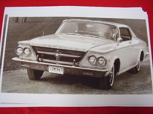 1963 Chrysler 300 J Coupe 11 X 17 Photo Picture