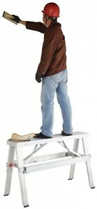 Adjustable Drywall Bench Lightweight Builders Construction 18 In To 30 In
