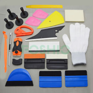 Pro Car Wrap Vinyl Tools Kit Scratch Free Squeegee Scraper Razor Glove Magnets