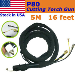 P 80 Air Plasma Cutting Cutter Torch Complete 13 Feets 4m Cable For Usa